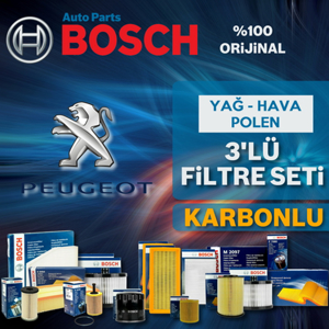 Peugeot 207 1.4 Benzinli Bosch Filtre Bakım Seti UP1539644 BOSCH
