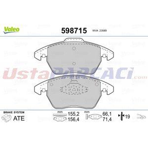 Peugeot 208 1.6 Bluehdi 100 2012-2020 Valeo Ön Fren Balatası UP1432966 VALEO