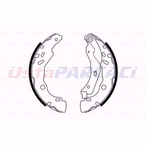 Peugeot 301 1.2 Vti 72 2012-2020 Bosch Arka Fren Balatası UP1618759 BOSCH