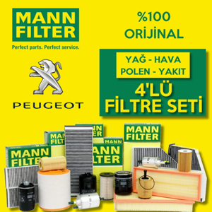 Peugeot 307 1.6 Hdi Mann-filter Filtre Bakım Seti 2004-2007 UP1324629 MANN