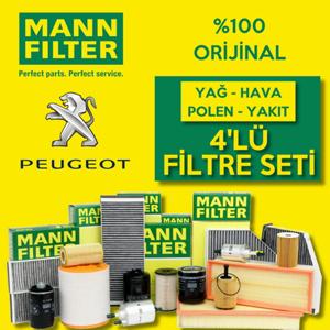 Peugeot 308 1.6 E-hdi Mann Filtre Bakım Seti 2014-2017 UP1539654 MANN