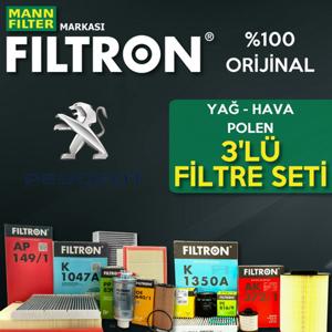 Peugeot 308 1.6 E-hdi Mann Filtron Filtre Bakım Seti 2014-2017 UP1539651 FILTRON