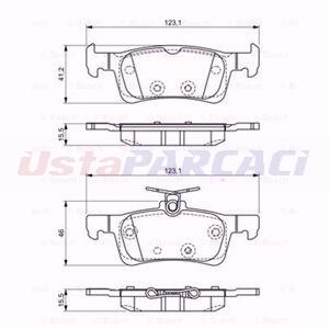 Peugeot 308 Ii 1.6 2013-2020 Bosch Arka Fren Balatası UP1579951 BOSCH