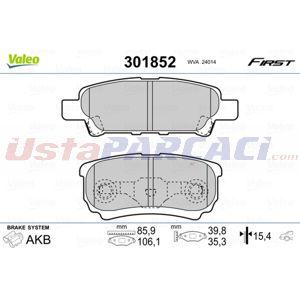 Peugeot 4008 1.6 Hdi Awc 2012-2020 Valeo Ön Fren Balatası UP1442284 VALEO