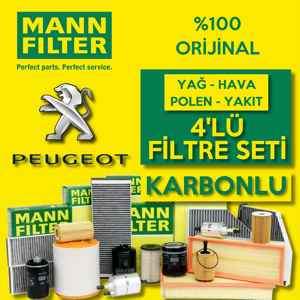 Peugeot 508 1.6 Hdi Mann Filtre Bakım Seti 2010-2014 UP1539712 MANN