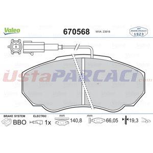 Peugeot Boxer 2.2 Hdi 2002-2020 Valeo Ön Fren Balatası UP1413886 VALEO