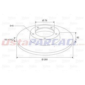 Peugeot Boxer Minibüs 2.2 Hdi 130 2006-2020 Valeo Arka Fren Diski UP1468230 VALEO