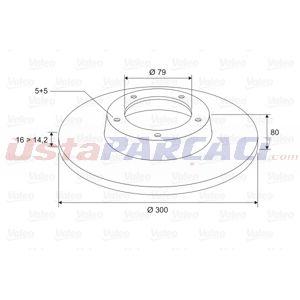 Peugeot Boxer Minibüs 3.0 Hdi 145 2006-2020 Valeo Arka Fren Diski UP1437413 VALEO