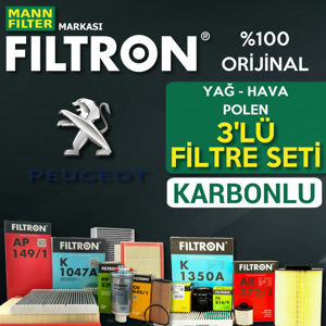 Peugeot Partner 1.6 Hdi Euro 5 2011 üstü Filtron Filtre Bakım Seti UP1539427 FILTRON
