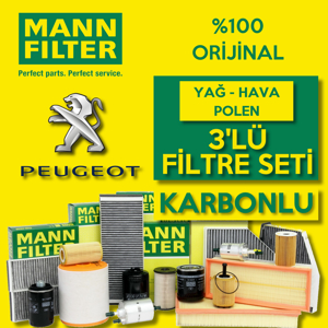 Peugeot Partner 1.9 Dizel Mann Filtre Bakım Seti 2002-2008 UP1539659 MANN