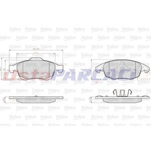 Peugeot Partner Panelvan 1.6 Bluehdi 120 2008-2020 Valeo Ön Fren Balatası UP1415666 VALEO