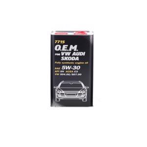 Oem Vw - Audi - Skoda 5w30 Motor Yağı 5 Lt OEM VW - AUDI - SKODA 5W30 MANNOL