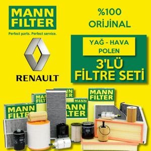 Renault Clio 4 1.5 Dci Mann-filter Filtre Bakım Seti 2012-2016 UP1319433 MANN