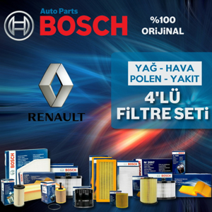 Renault Fluence 1.6 Bosch Filtre Bakım Seti (2010-2016) UP582412 BOSCH