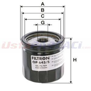 Renault Kangoo 1.5 Dci 2008-2019 Filtron Yağ Filtresi UP1391228 FILTRON