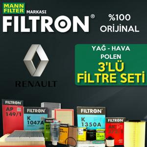 Renault Megane 2 1.6 16v Filtron Filtre Bakım Seti 2003-2009 UP1319672 FILTRON