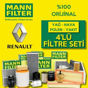 Renault Megane 2 1.6 16v Mann-filter Filtre Bakım Seti 2003-2009 UP1319671 MANN