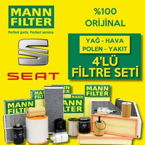 Seat İbiza 1.4 Mann-filter Filtre Bakım Seti 2009-2014 Cgg UP1319424 MANN