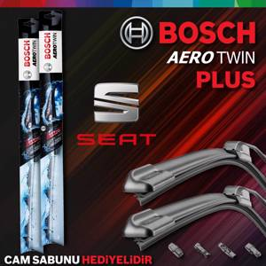 Seat İbiza Ön Arka Silecek Takımı 2006-2009 Bosch Aerotwin Plus UP1539396 BOSCH