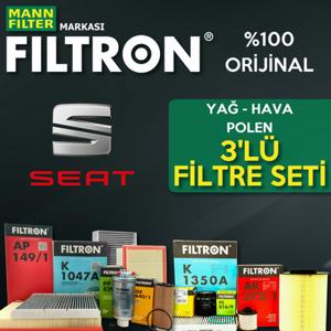 Seat Leon 1.4 Tsi Filtron Filtre Bakım Seti 2013-2017 UP1324632 FILTRON