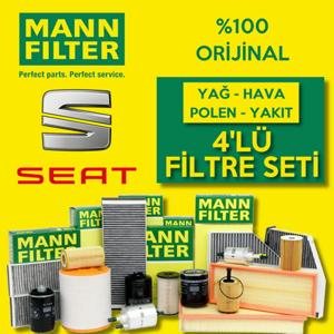 Seat Leon 1.6 Tdi Mann-filter Filtre Bakım Seti 2010-2012 UP1324651 MANN