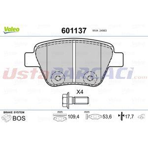 Seat Leon 2.0 Fsi 2005-2012 Valeo Arka Fren Balatası UP1486039 VALEO