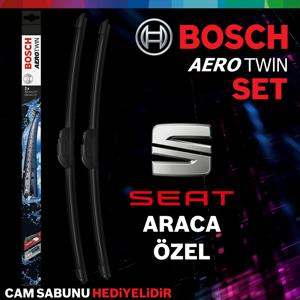 Seat Leon Ön Arka Silecek Takımı 2013-2019 Bosch Aerotwin-rear UP1539348 BOSCH
