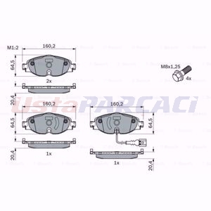 Seat Leon St 2.0 Cupra 4drive 2013-2020 Bosch Ön Fren Balatası UP1565783 BOSCH