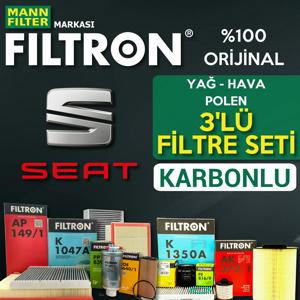Seat Toledo 1.2 1.4 Tsi Benzinli Filtron Filtre Bakım Seti 2015-2017 UP1539516 FILTRON