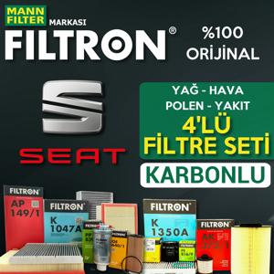 Seat Toledo 1.2 1.4 Tsi Benzinli Filtron Filtre Bakım Seti 2015-2017 UP1539517 FILTRON