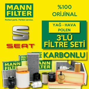 Seat Toledo 1.2 1.4 Tsi Benzinli Mann Filtre Bakım Seti 2015-2017 UP1539514 MANN