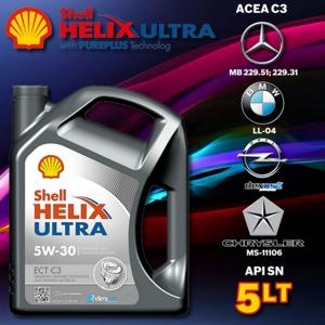 Shell Ultra Helix Ect C3 5w-30 5 Litre Motor Yağı Üt.temmuz.2019 UP630591 SHELL