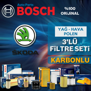 Skoda Fabia 1.4 Bosch Filtre Bakım Seti 2000-2003 Ame UP1313046 BOSCH