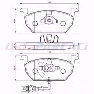 Skoda Octavia Iii 1.4 Tsi 2012-2020 Bosch Ön Fren Balatası UP1595545 BOSCH