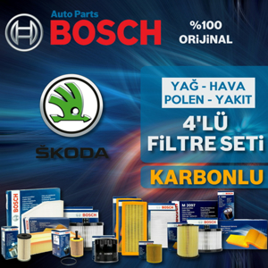 Skoda Rapid 1.2 Tsi Benzinli Bosch Filtre Bakım Seti 2015-2017 UP1539509 BOSCH