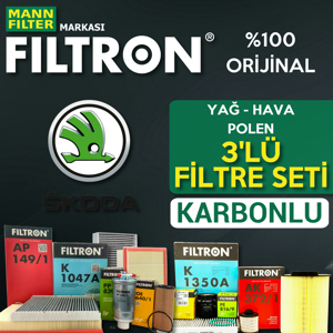 Skoda Rapid 1.2 Tsi Benzinli Filtron Filtre Bakım Seti 2015-2017 UP1539506 FILTRON