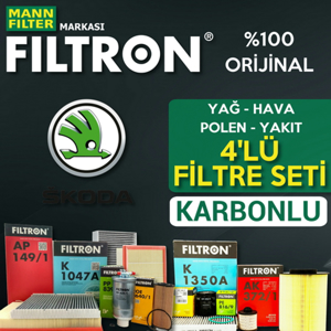 Skoda Rapid 1.2 Tsi Benzinli Filtron Filtre Bakım Seti 2015-2017 UP1539507 FILTRON