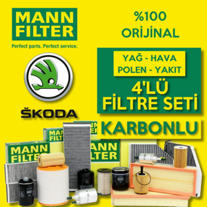 Skoda Superb 1.6 2.0 Tdi Dizel Mann Filtre Bakım Seti 2015-2019 UP1539474 MANN