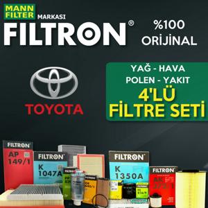 Toyota Auris 1.4 D4d Filtron Filtre Bakım Seti (2007-2016) UP560738 FILTRON
