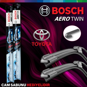 Toyota Auris Ön Arka Silecek Takımı 2007-2012 Bosch Aerotwin-rear UP1539368 BOSCH