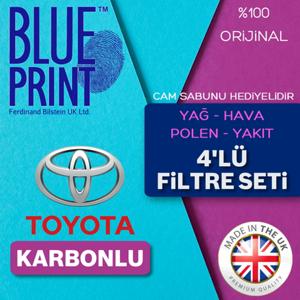 Toyota Corolla 1.4 D4d Blueprint Karbonlu Filtre Bakım Seti (2007-2016) UP561509 BLUEPRINT