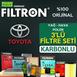 Toyota Corolla 1.6 Filtron Filtre Bakım Seti 2007-2018 UP1725445 FILTRON