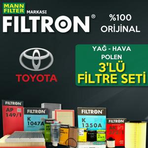Toyota Yaris 1.0 Filtron Filtre Bakım Seti 2007-2013 UP1324658 FILTRON