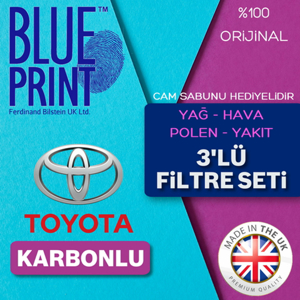 Toyota Yaris 1.4 D4d Blueprint Karbonlu Filtre Bakım Seti (2007-2011) UP561517 BLUEPRINT