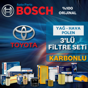 Toyota Yaris 1.4 D4d Bosch Filtre Bakım Seti 2007-2011  UP1725450 BOSCH