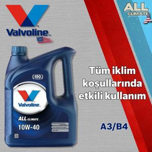 Valvoline All Climate 10w40 A3/b4 Sentetik Motor Yağı 1 Litre UP1534965 VALVOLINE