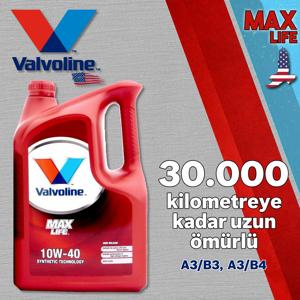 Valvoline Maxlife A3/b4 10w40 Full Sentetik Motor Yağı 4 Litre UP1531342 VALVOLINE