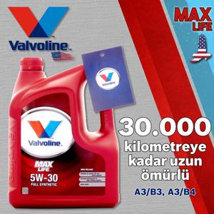 Valvoline Maxlife A3/b4 5w30 Tam Sentetik Motor Yağı 4 Litre UP1531340 VALVOLINE