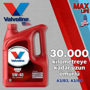 Valvoline Maxlife A3/b4 5w40 Tam Sentetik Motor Yağı 4 Litre UP1531341 VALVOLINE