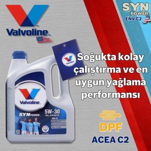 Valvoline Synpower Env C2 5w30 Partiküllü Tam Sentetik Motor Yağı 4 Litre UP1534959 VALVOLINE